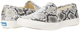 Keds x kate spade new york Double Decker Snake (Cream/Black Leather) Women's Shoes