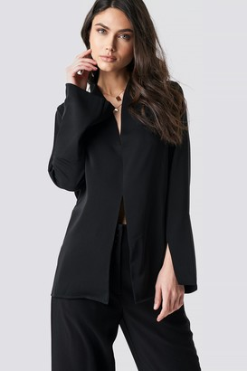 NA-KD Wide Cuff Slit Detail Blouse