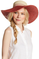 Vince Camuto Colorblock Woven Floppy Hat