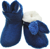 Angelina Blue Bunny Ear Sherpa-Lined Slippers