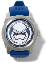"""Star Wars Storm Trooper"""" Perforated Blue Rubber Strap Watch"""