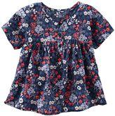 Osh Kosh Girls 4-8 Flowy Floral Short Sleeve Fashion Top