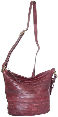 Nino Bossi Handbags Women's Handbags Burgundy - Burgundy Saige Leather Crossbody Bag