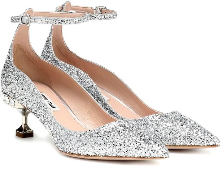 b133d584d3 Glitter Kitten Heel Shoes - ShopStyle UK
