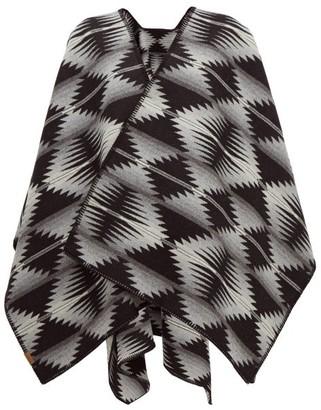 Pendleton Falcon Cove Wool-blend Cape - Womens - Grey Multi