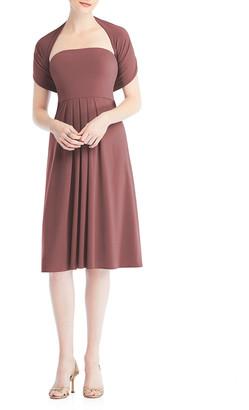 Dessy Collection One-Shoulder Midi Multi-Way Loop Dress