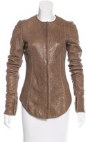 Thomas Wylde Asymmetrical Leather Jacket