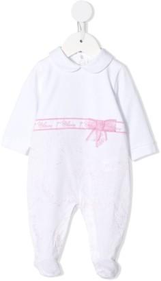 Alviero Martini Kids Lace-Ribbon Pajamas