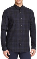 Vince Manhattan Plaid Flannel Slim Fit Button-Down Shirt