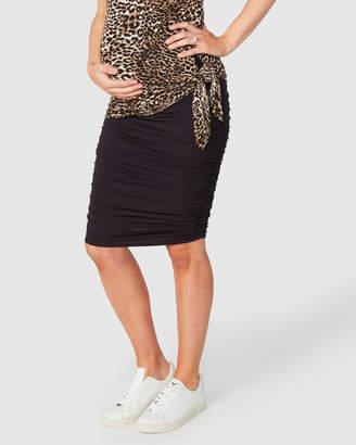 Bailey Gather Pencil Skirt