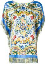Dolce & Gabbana Majolica print top - women - Silk/Viscose - 40