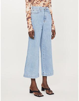 Nanushka Ramos high-waisted wide-leg jeans