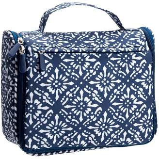 Pottery Barn Teen Ultimate Hanging Toiletry Case, Block Print Navy