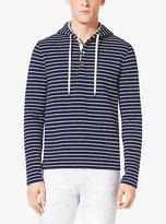 Michael Kors Mariner Striped Cotton Hoodie