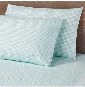 Lacoste Birds Eye Percale Full Sized Sheets - Mint