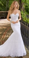 Camille La Vie Beaded Lace Trumpet Wedding Dress