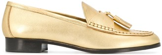 Sandro Paris Metallic Tassel Loafer