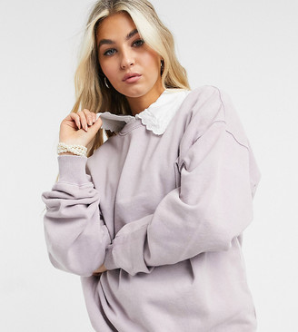 Reclaimed Vintage inspired sweat in lilac