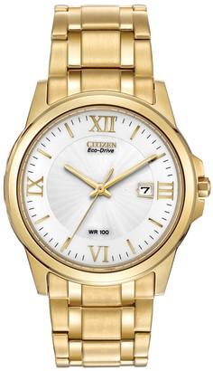 Citizen Men's Eco-Drive 3-Hand Bracelet Watch, 39mm