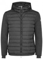 Moncler Grey Shell-panelled Wool Blend Jumper
