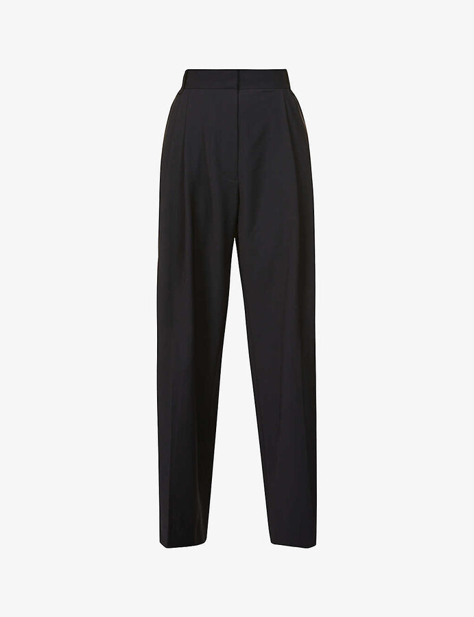 Thumbnail for your product : Camilla And Marc Hyde wide-leg high-rise crepe trousers