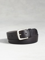 John Varvatos Leather Textured Belt