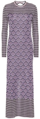 Paco Rabanne Printed stretch-knit midi dress