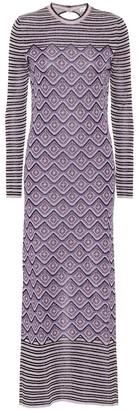 Paco Rabanne Printed stretch-knit midi dress