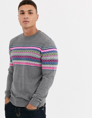 Threadbare 100% cotton fairisle sweater