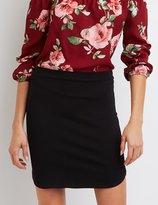 Charlotte Russe Ponte Knit Mini Skirt