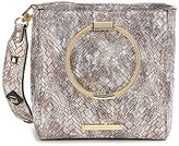 Gianni Bini Ring-Handle Woven Satchel