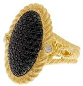 Judith Ripka Gold Plated Sterling Silver Black Spinel CZ Ring