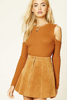 Forever 21 FOREVER 21+ Ribbed Knit Open-Shoulder Top