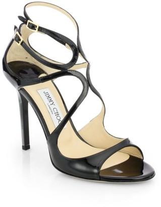 Jimmy Choo Lang Strappy Patent Leather Sandals