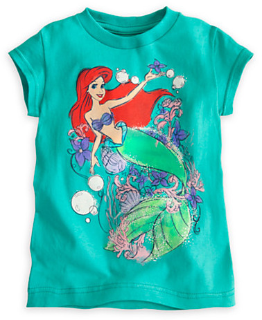 Disney Ariel Bubbles Tee for Girls