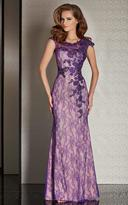 Clarisse Atelier Clarisse - M6236 Sheer Lace Applique Evening Gown