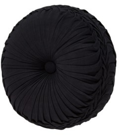 J Queen New York J Queen Midnight Mist Black Tufted Round Bedding