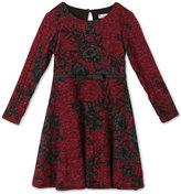 Speechless Floral-Print Rib-Knit Skater Dress Toddler & Little Girls (2T-6X)