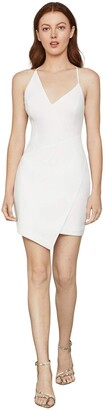 BCBGMAXAZRIA Women's Sleeveless Asymmetrical V-Neck Short Dress
