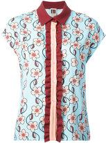 I'M Isola Marras floral print shortsleeved shirt - women - Polyester/Spandex/Elastane/Acetate/Viscose - 42