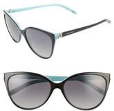 Tiffany & Co. 58mm Polarized Cat Eye Sunglasses