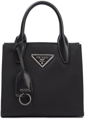 Prada Leather-trimmed nylon tote