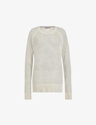 AllSaints Mesh-knit jumper