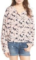 Hinge Women's Floral Print Oversize Blouse