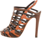 Pierre Hardy Leather Cage Sandals