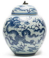 Gump's Dragon Temple Jar