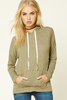 Forever 21 FOREVER 21+ Contemporary Heathered Hoodie