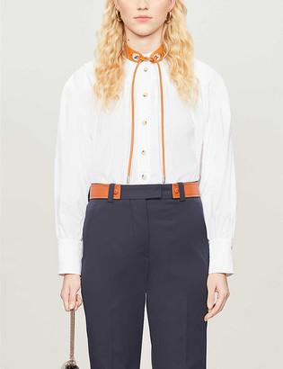 Sportmax Garbo contrast-collar cotton shirt