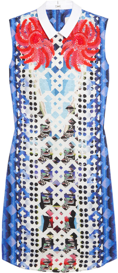 Peter Pilotto An printed silk-blend jacquard mini dress
