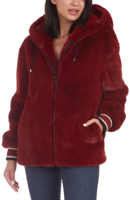 Rachel Roy Faux Fur Hooded Jacket